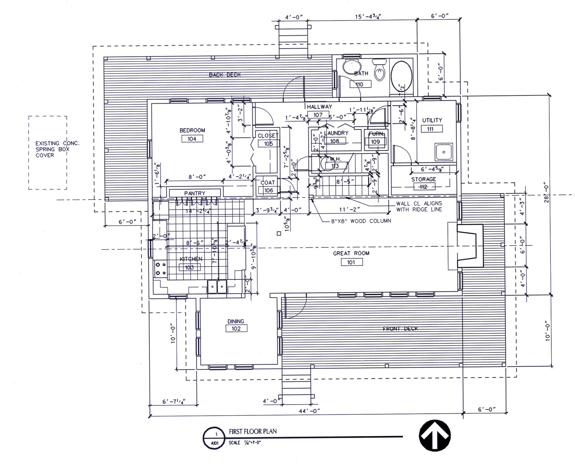 Mountain Vacation House, Ground Floor Plan